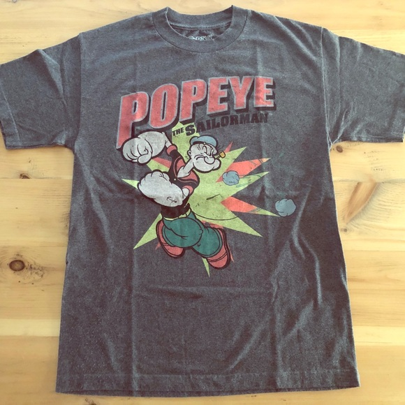Vintage 2010 retro Popeye men's tee shirt
